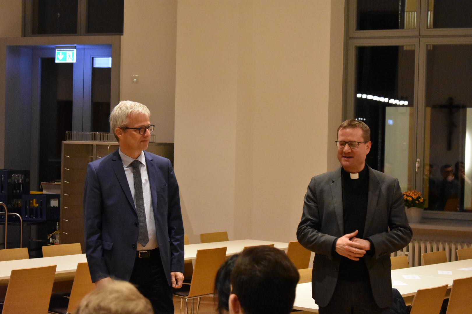 Dr. Oeldemann (leader of the scholars' programme) & Christian Städter (spiritual guide of the seminary)
