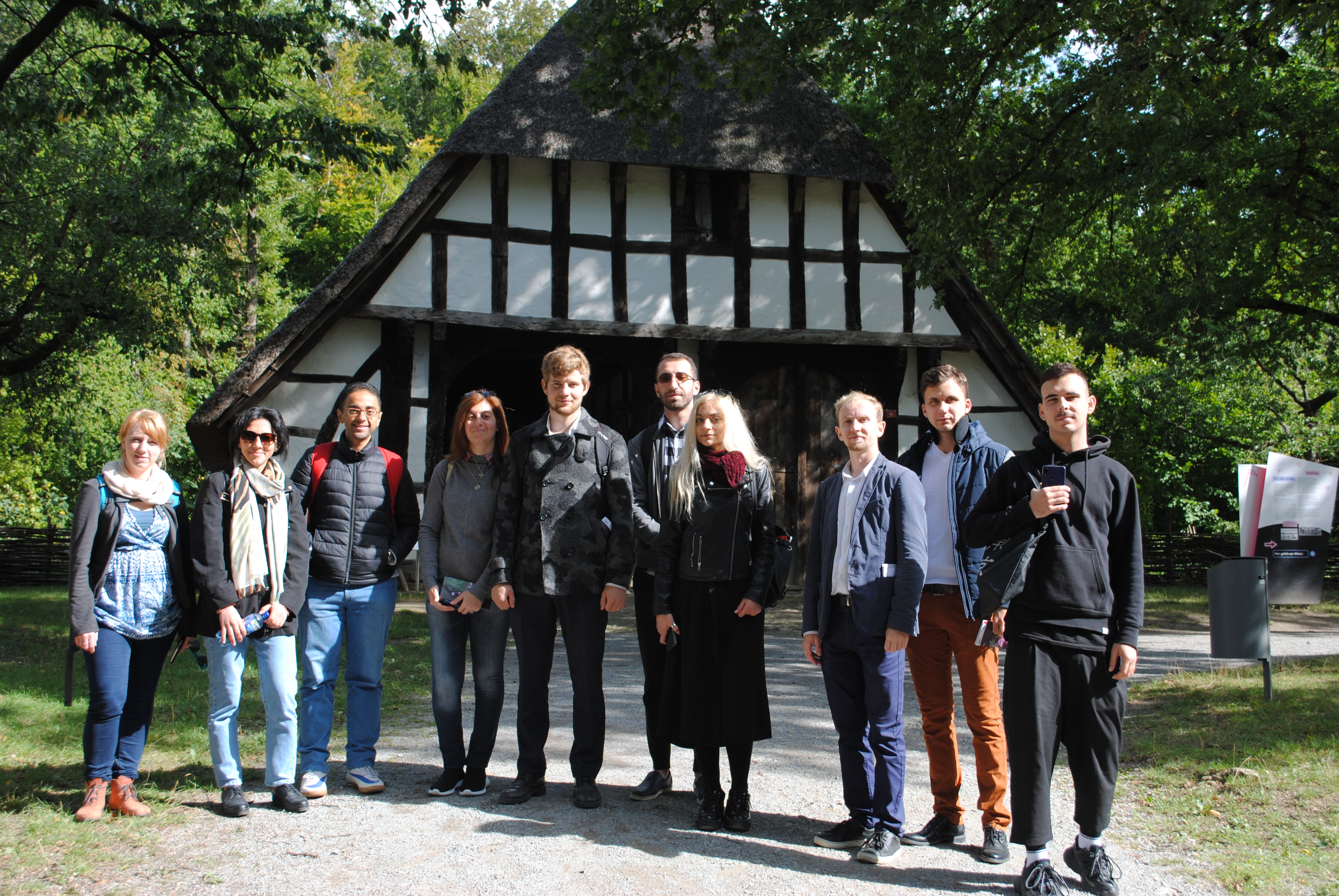 Open-Air museum Detmold: In front of a traditional Westfalian timbered house